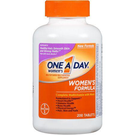 "<p>$8</p><p><a rel=""nofollow"" href=""https://www.walmart.com/ip/One-A-Day-Women-s-Multivitamin-Tablets-200-Count/10311437""><strong>SHOP NOW</strong> </a></p><p>A great catch-all multivitamin, this traditional product contains the essential vitamins you need at an affordable price. The only downside? ""Some people complain of nausea or<a rel=""nofollow"" href=""https://www.womansday.com/health-fitness/nutrition/advice/g91/6-stomach-friendly-foods-105795/""> stomach upset</a>, which can be a reaction to iron,"" Moretti says. ""If this happens, make sure to take the supplement <a rel=""nofollow"" href=""https://www.womansday.com/healthy-recipes/"">with a meal</a>.""</p>"