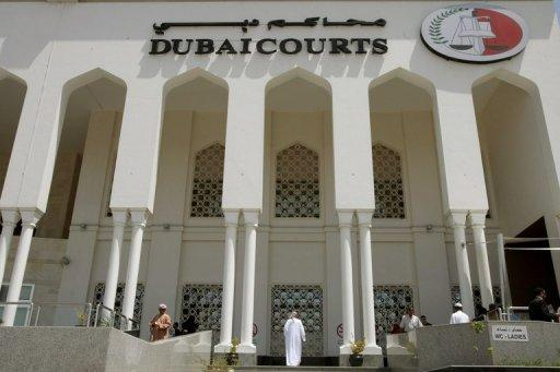 View of the Dubai Courts building