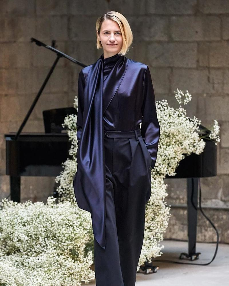 Sara Ziff usually sticks behind the scenes, but the founder of the Model Alliance went back to her modeling roots at Deveaux's fall/winter 2019 show during New York Fashion Week in February 2019.