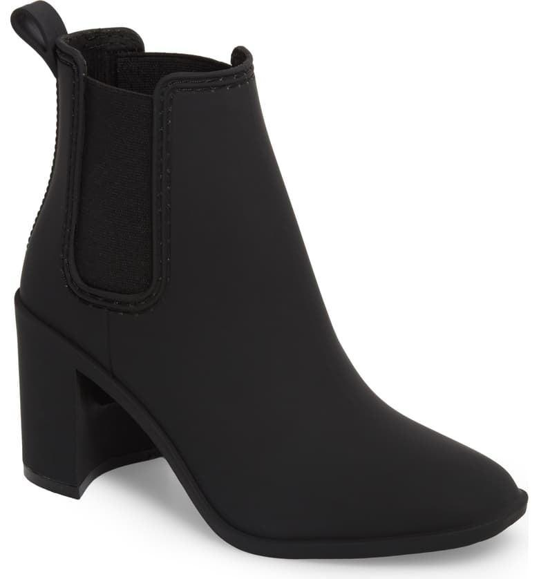 <p>If you can't part with your heels, these <span>Jeffrey Campbell Hurricane Waterproof Boots</span> ($65) are for you. They come in a few different colors, but there's something special about matte black.</p>