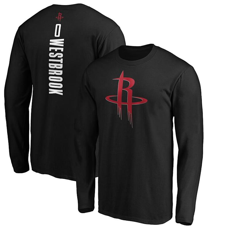 Westbrook Name & Number Long Sleeve T-Shirt