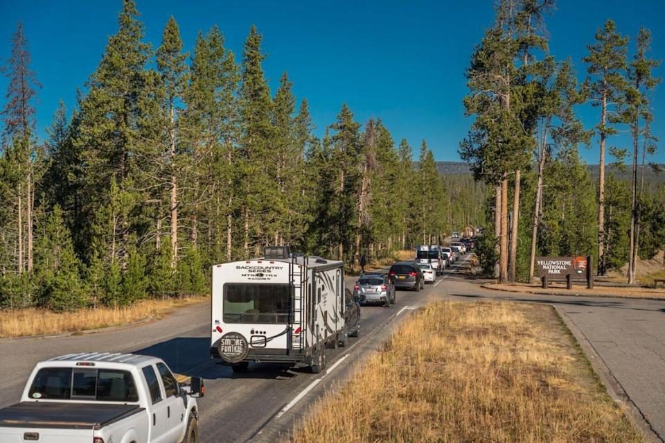 Yellowstone National Park had over 483,000 recreation visits last month, up 11% from May 2019.