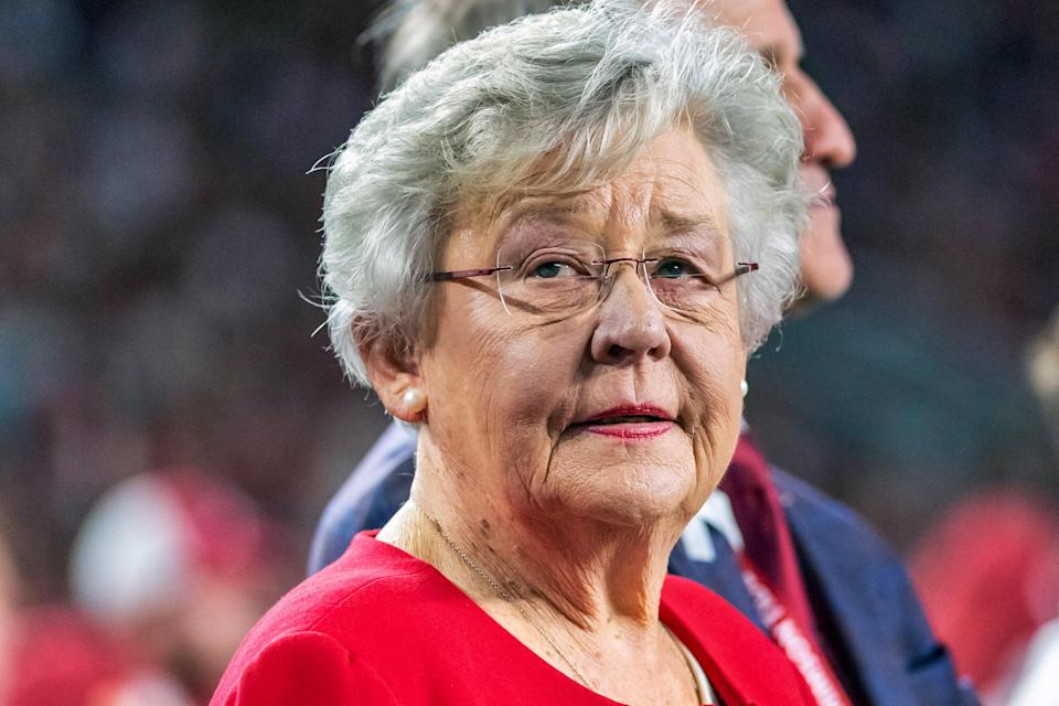<p>Alabama Governor Kay Ivey has kept a mask mandate in place despite other GOP-led states in the south lifting Covid restrictions.</p> (Copyright 2019, The Associated Press. All rights reserved.)