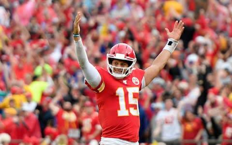 <span>Patrick Mahomes' Chiefs improved to 3-0</span> <span>Credit: AP </span>