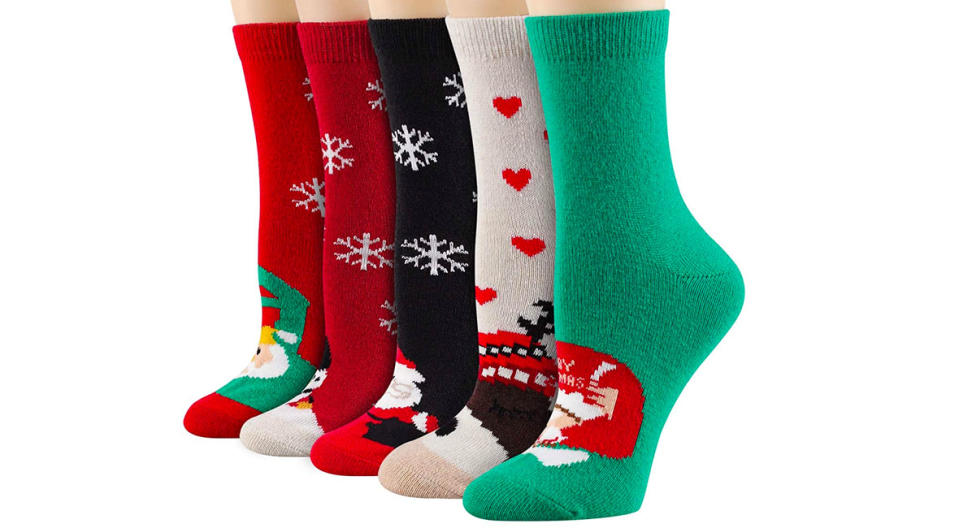 Heatuff Christmas Wool Crew Socks (Photo: Amazon)