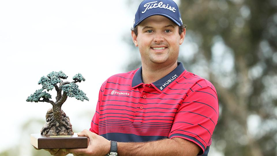 Patrick Reed, pictured here with the trophy after winning the Farmers Insurance Open.