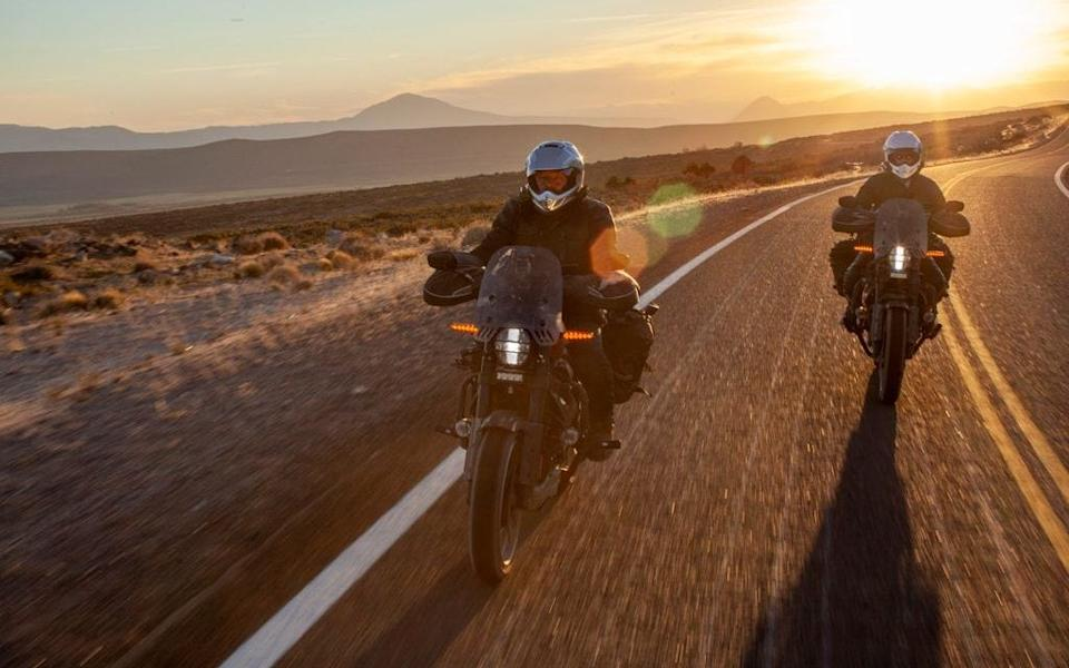 The Harley-Davidson has usurped the BMW GS as MacGregor's first choice - Apple