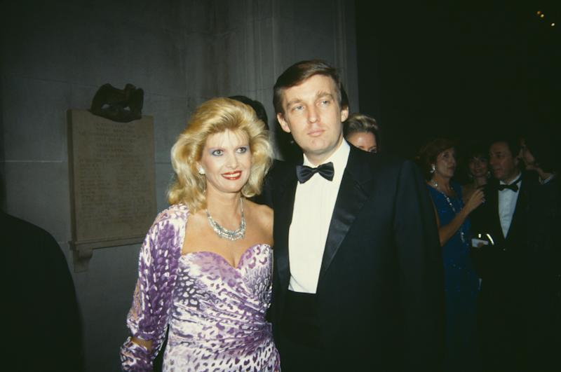 Donald Trump with his first wife, Ivana, at the Costume Institute Gala at the Metropolitan Museum of Art in December 1985.