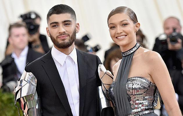 With girlfriend Gigi Hadid in 2016. Source: Getty