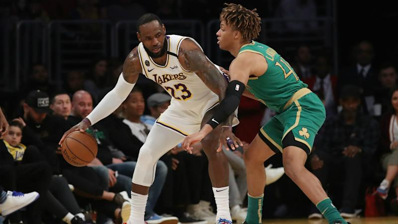 Tatum scores 41 but LeBron lifts Lakers, Bucks become fastest team in history to clinch playoff spot