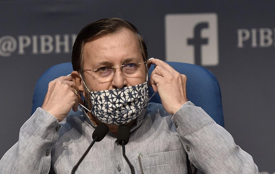 Union environment minister Prakash Javadekar in a file photo. (Photo: Hindustan Times via Getty Images)