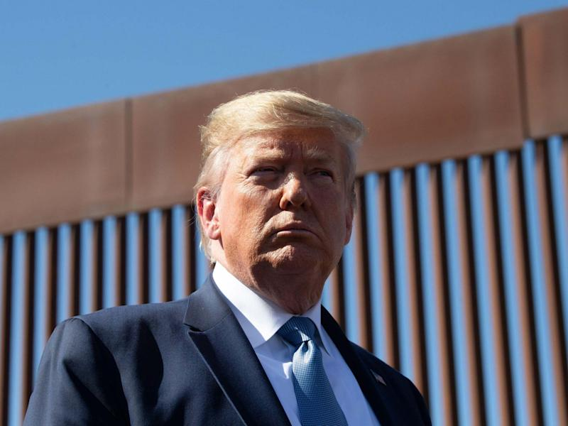 Donald Trump during a visit to the US-Mexico border in September: AFP/Getty Images
