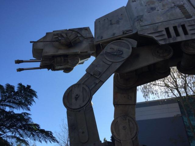 If you're driving an AT-AT like this one seen at Disney Hollywood Studios in Orlando, Florida, be on alert. (Tori Floyd)