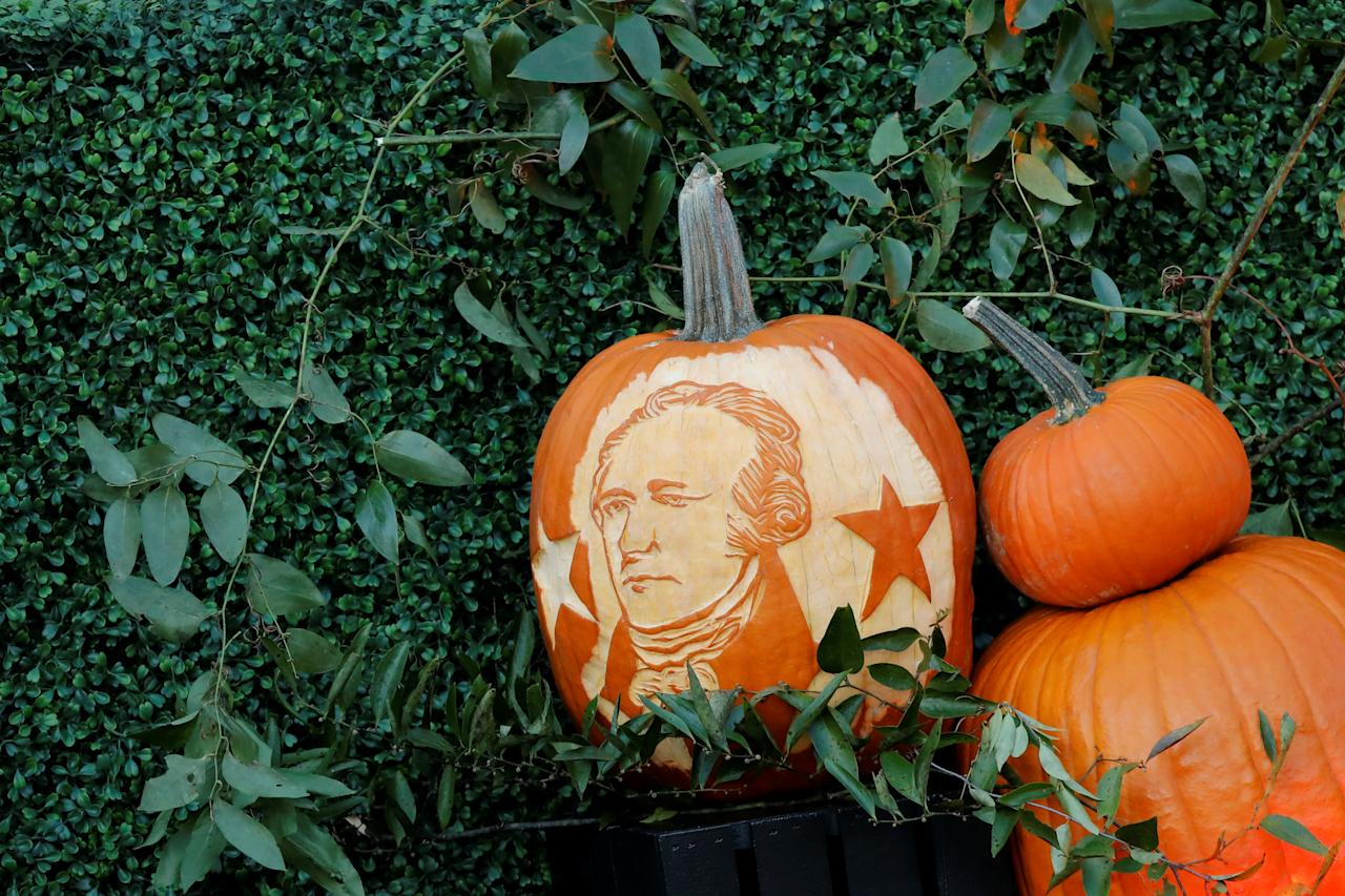 <p>Halloween decoration is seen during an event hosted by U.S. President Donald Trump and First Lady Melania Trump at the South Portico of the White House in Washington, D.C. on Oct. 30, 2017. (Photo: Carlos Barria/Reuters) </p>
