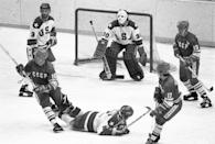 """<p>Sure, the 2004 Disney movie <em>Miracle</em> gave younger generations a recap, but there was nothing like seeing the """"Miracle on Ice"""" happen in real time as an adult. <a href=""""https://www.history.com/this-day-in-history/u-s-hockey-team-makes-miracle-on-ice"""" rel=""""nofollow noopener"""" target=""""_blank"""" data-ylk=""""slk:On February 22, 1980"""" class=""""link rapid-noclick-resp"""">On February 22, 1980</a>, the U.S. hockey team did the unthinkable by beating the then-untouchable Soviet Union team in the semifinals at the 1980 Winter Olympics in Lake Placid. </p>"""