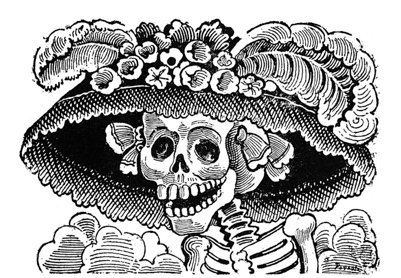 José Guadalupe Posada's 'La Calavera Catrina' (C1910) is considered one of his most iconic works (Rex)