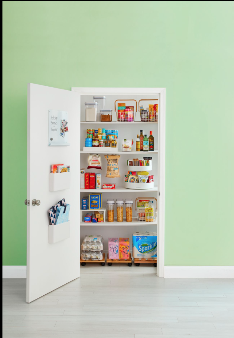 """<p>Find your canned veggies, beans, and soups in a flash with a tiered shelf. You'll know when you're running low on staples if you're able to see everything at once.</p><p><a class=""""link rapid-noclick-resp"""" href=""""https://www.amazon.com/InterDesign-Linus-Cabinet-Organizer-Rack/dp/B001KOTJTS?tag=syn-yahoo-20&ascsubtag=%5Bartid%7C2164.g.35037072%5Bsrc%7Cyahoo-us"""" rel=""""nofollow noopener"""" target=""""_blank"""" data-ylk=""""slk:SHOP TIERED SHELVES"""">SHOP TIERED SHELVES</a></p>"""
