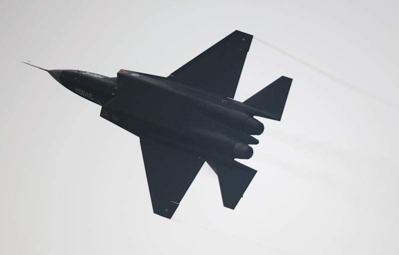 Defence analysts say the J-31 is China's answer to the United States' F-35 (AFP Photo/JOHANNES EISELE)