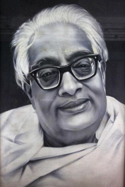 """This undated photo of a painting provided by the Bangiya Vigyan Parishad or the Bengal Science Society in Kolkata, India shows Indian scientist Satyendranath Bose. While much of the world was celebrating the international cooperation that led to last week's breakthrough in identifying the existence of the Higgs boson particle, many in India were smarting over what they saw as a slight against one of their greatest scientists. Media covering the story gave lots of credit to British physicist Peter Higgs for theorizing the elusive subatomic """"God particle,"""" but little was said about Satyendranath Bose, the Indian after whom the boson is named. (AP Photo/ Bangiya Vigyan Parishad)"""