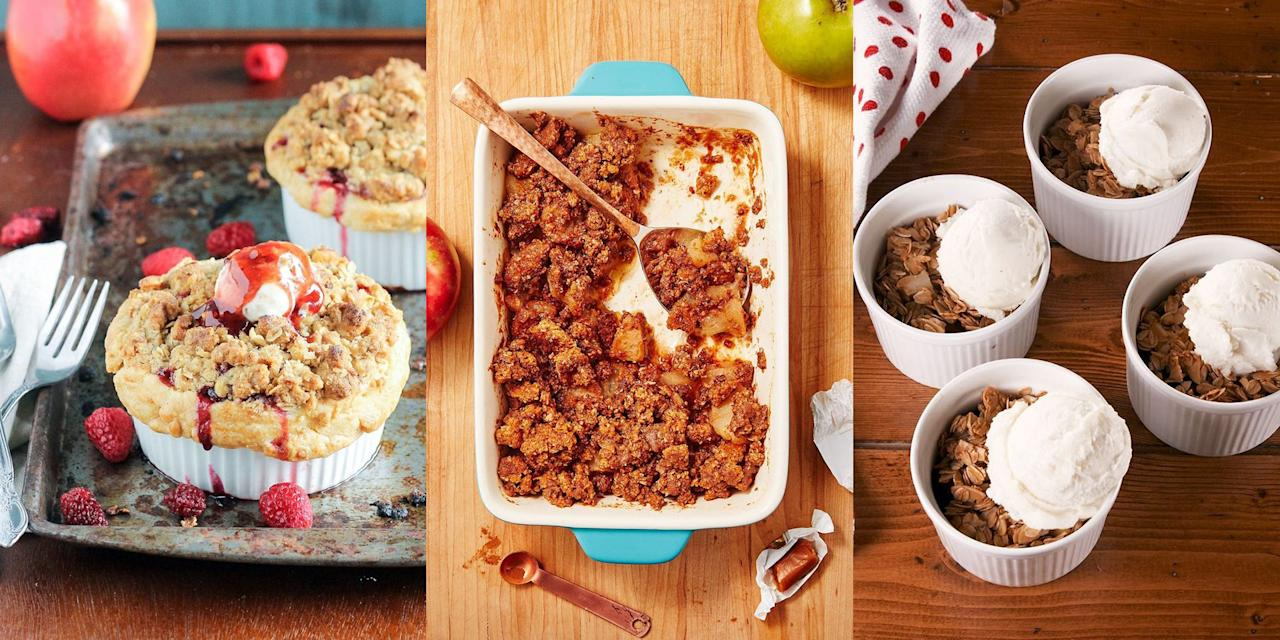 """<p>Nothing beats a comforting <a href=""""https://www.delish.com/uk/cooking/recipes/a29220792/apple-crumble/"""" target=""""_blank"""">apple crumble</a>. And there's no point in arguing, we won't budge. They're easy to make (most of the time), satisfying to watch cook, and delicious to eat. Not to mention, they make the best after-<a href=""""https://www.delish.com/uk/cooking/recipes/g33965648/dinner-inspiration/"""" target=""""_blank"""">dinner</a> treat. What more could you possibly want? </p>"""