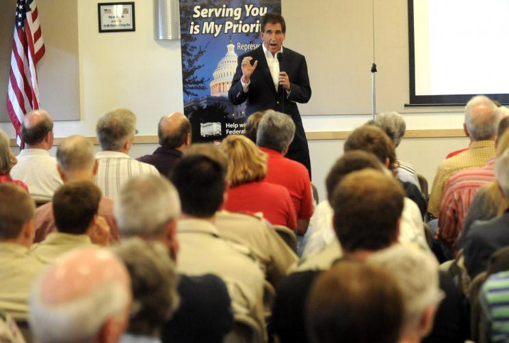 From 2013: Rep. Jim Renacci, R-Ohio, speaks at a town hall meeting. (Photo: Tom E. Puskar/AP)