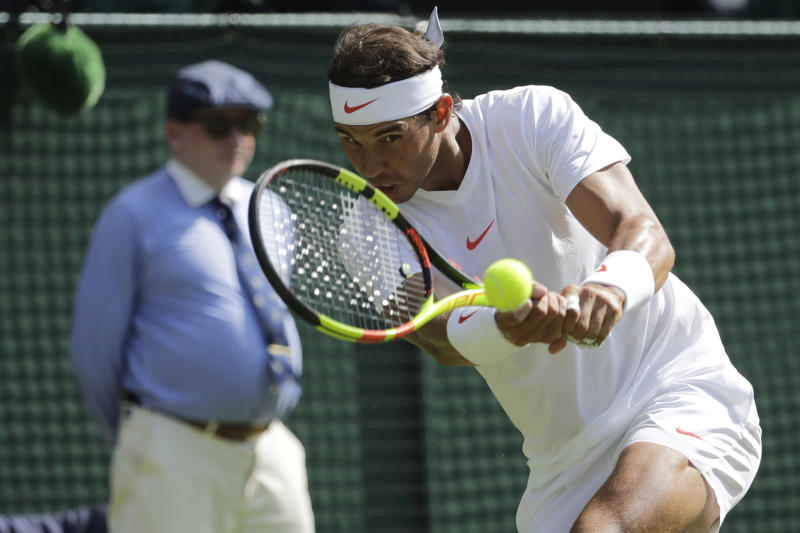 Rafael Nadal coasts into Wimbledon round two