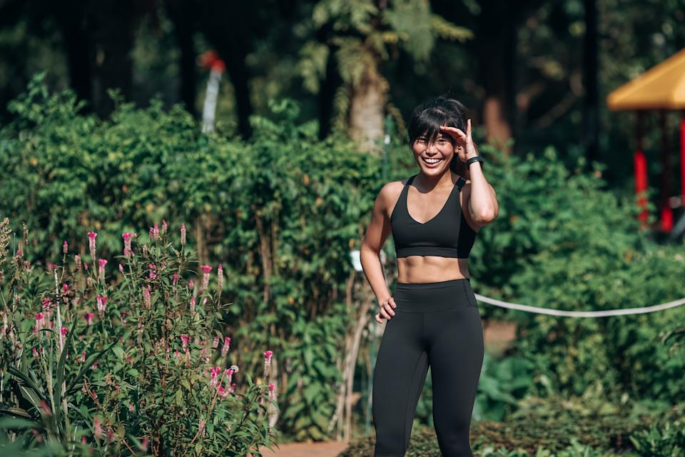 Having achieved her goal of looking fit and lean, Ginger occasionally changes her workout routines to challenge her body.