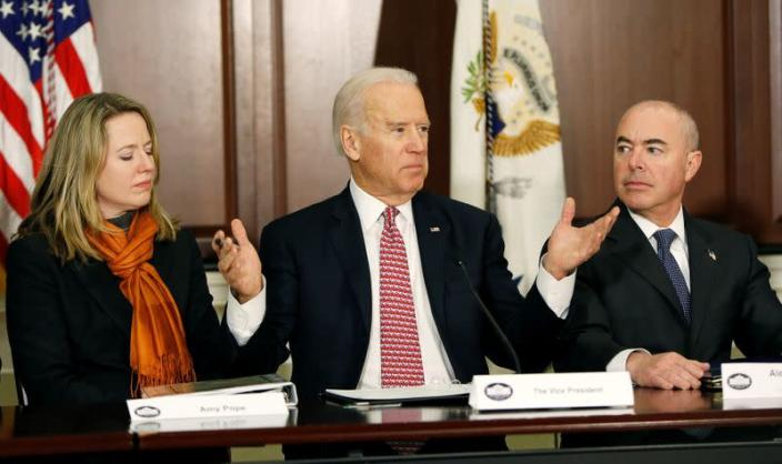 FILE PHOTO: United States Vice President Biden delivers remarks at roundtable on countering violent extremism in Washington