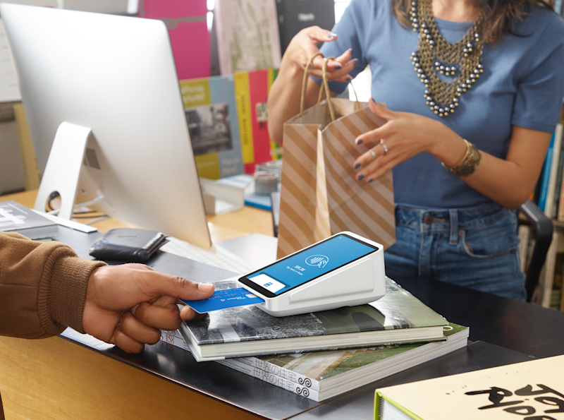 Merchant using Square to process payment.