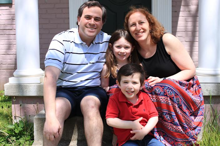 """Health officials """"don't seem to be taking the kids into account too much when making these regulations,"""" says Daniel Horowitz who has a daughter, Emily, and son, Adam, with wife Dana."""