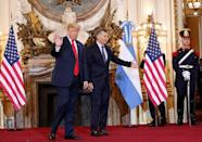 U.S. President Donald Trump and Argentina's President Mauricio Macri meet before the G20 leaders summit in Buenos Aires, Argentina November 30, 2018. REUTERS/Kevin Lamarque