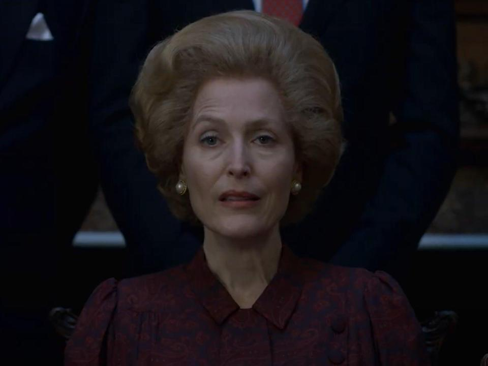 Gillian Anderson as Margaret Thatcher (Netflix)