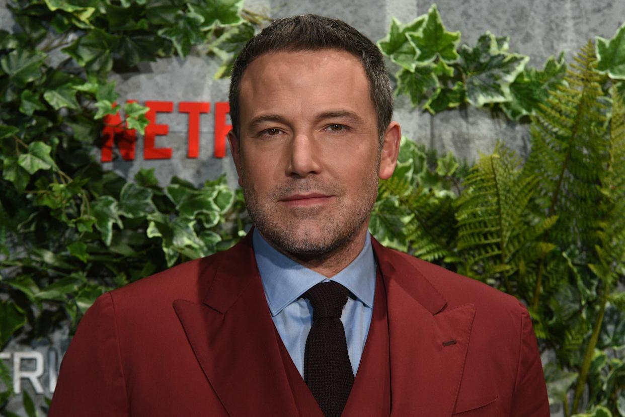 Affleck addressed his alcoholism and infamous back tattoo in an interview with the New York Times. (Photo: Jorge Sanz/Pacific Press/LightRocket via Getty Images)