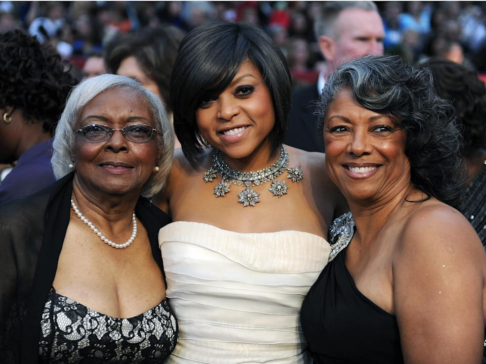Taraji P. Henson with her mother and grandmother at the 81st Academy Awards.