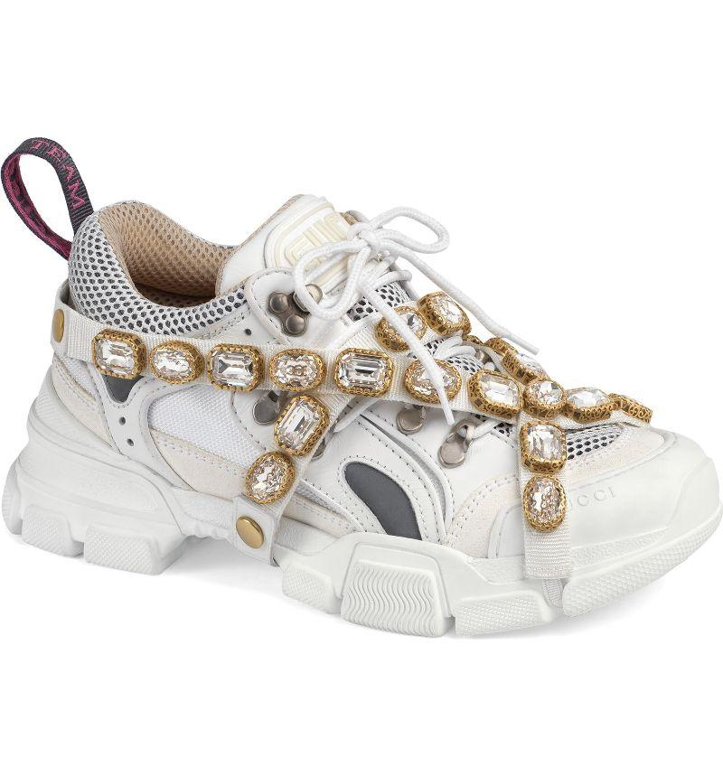 759e61a40 Gucci's Insane New Bejeweled Sneakers Cost More Than NYC Rent