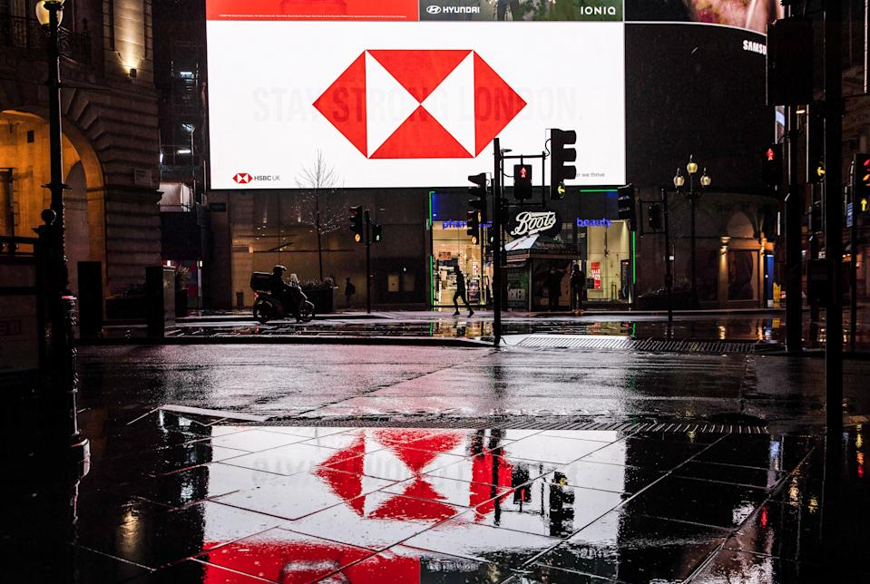 HSBC billboard in London. Photo: May James/SOPA/LightRocket via Getty