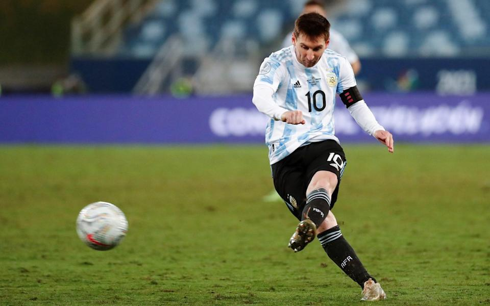 Lionel Messi of Argentina in action during the Copa America group A - Shutterstock