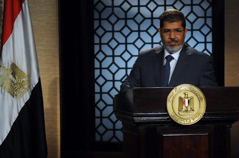 Internationally he received some support but in his homeland Morsi's chequered legacy is still condemned (AFP Photo/STR)