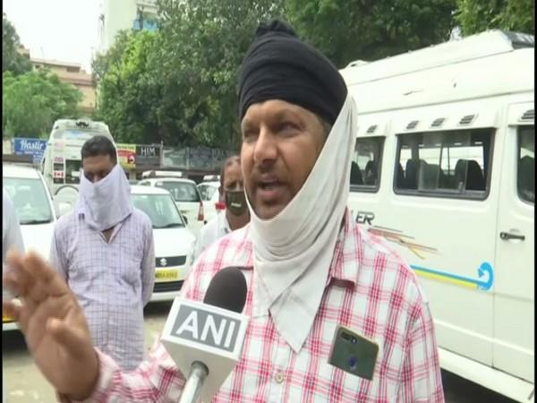 Harpreet Singh, A taxi owner from Amritsar (Photo/ANI)