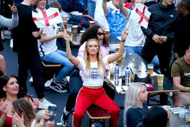England fans were ready for kick off at BOXPARK in Croydon