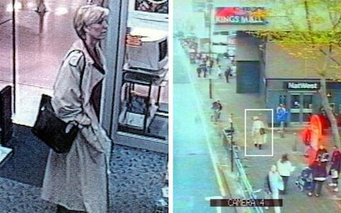 Footage issued by Scotland Yard on the anniversary of Jill Dando's murder. The CCTV footage shows the television presenter on the morning of her death - Credit: Scotland Yard