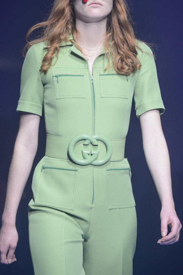 <p><i>Pastel green Gucci interlocking logo belt, from the Gucci SS18 collection. (Photo: ImaxTree) </i></p>