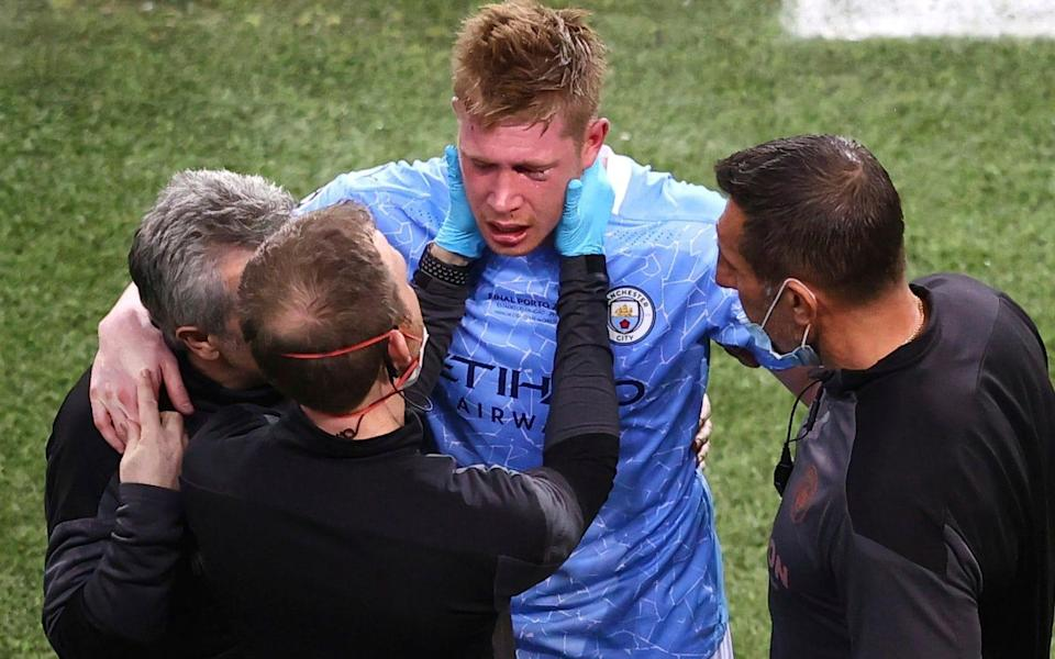 Kevin de Bruyne ruled out of Belgium's opening match with fractured nose and eye socket - Michael Steele/Pool Getty