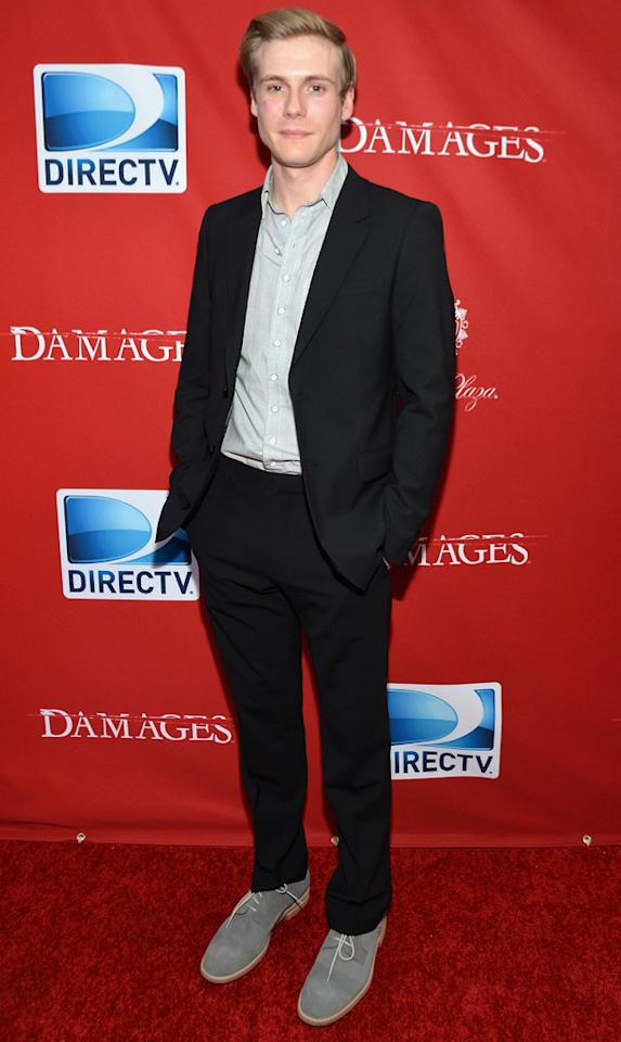 "Zachary Booth attends The DirecTV premiere for the fifth and final season of ""Damages"" at Paris Theater on June 28, 2012 in New York City."