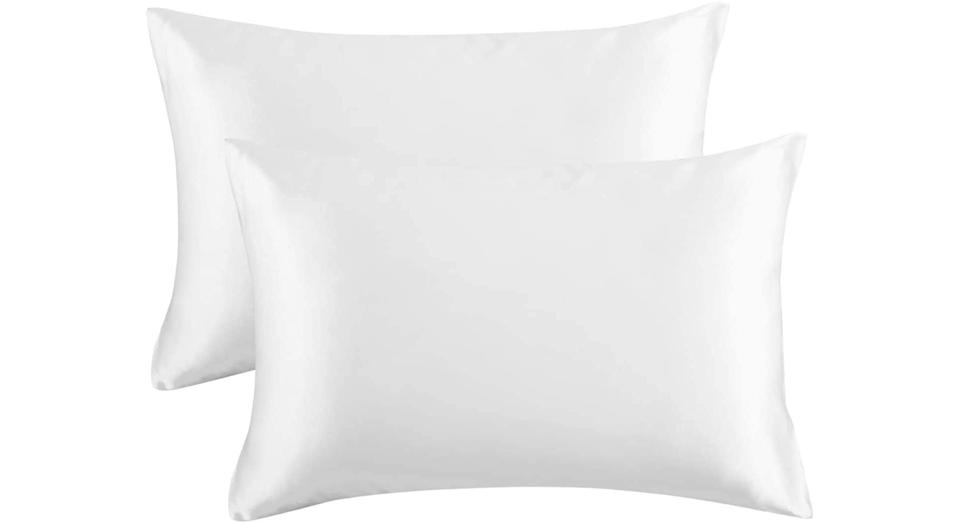 Bedsure Pillowcase Set Satin Pillowcases for Hair and Skin, Pack of 2