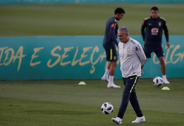 Football Soccer - Brazil national soccer team training - World Cup 2018 - Granja Comary, Teresopolis, Brazil - May 25, 2018 - Head Coach Tite. REUTERS/Ricardo Moraes