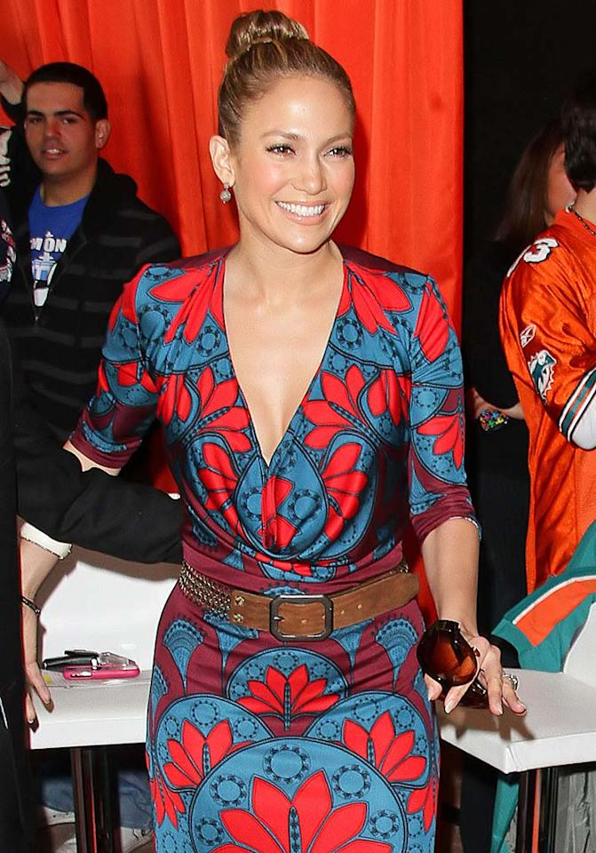 "Jennifer Lopez -- who was spotted sporting a smile at Dolphin Stadium in Miami -- caught a ton of heat this week when a <i>Latina</i> magazine interview surfaced in which the actress claims she was robbed of an Oscar in 2007 for her role in the box office flop ""El Cantante."" According to J.Lo, her chances were ruined because Academy voters failed to even see the film. Jackson Lee/<a href=""http://www.splashnewsonline.com"" target=""new"">Splash News</a> - January 3, 2010"