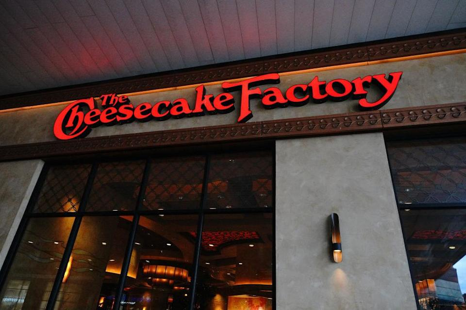 entrance to a cheesecake factory
