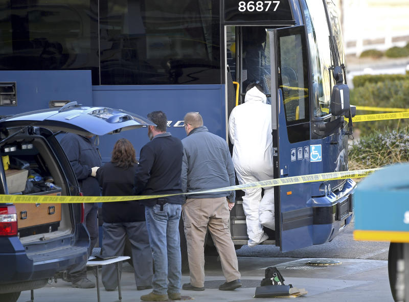 A gunman killed one passenger and wounded multiple others on a Greyhound bus travelling from Los Angeles to the San Francisco Bay Area. Source: AP