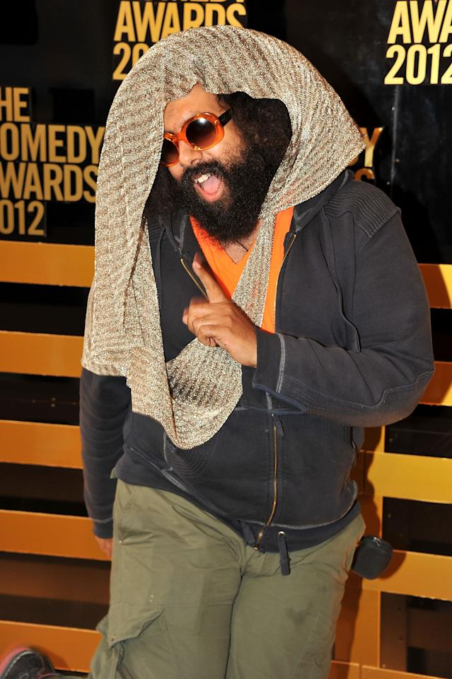 NEW YORK, NY - APRIL 28:  Comedian Reggie Watts attends The Comedy Awards 2012 at Hammerstein Ballroom on April 28, 2012 in New York City.  (Photo by Theo Wargo/Getty Images)